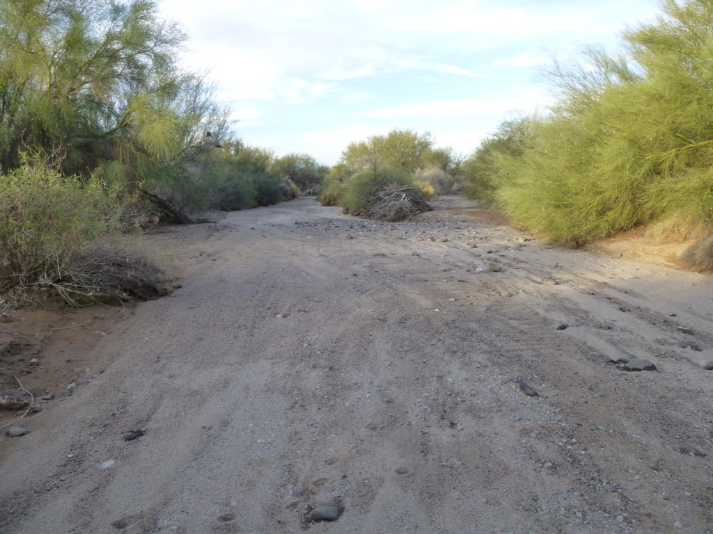 What used to be the road.